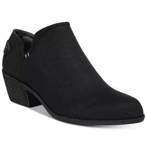 Dr. Scholls Better Shooties Black Zip Boots Shoes